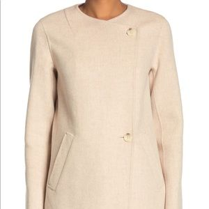 Theory Nyma Divide Asymmetric Two-Button Coat